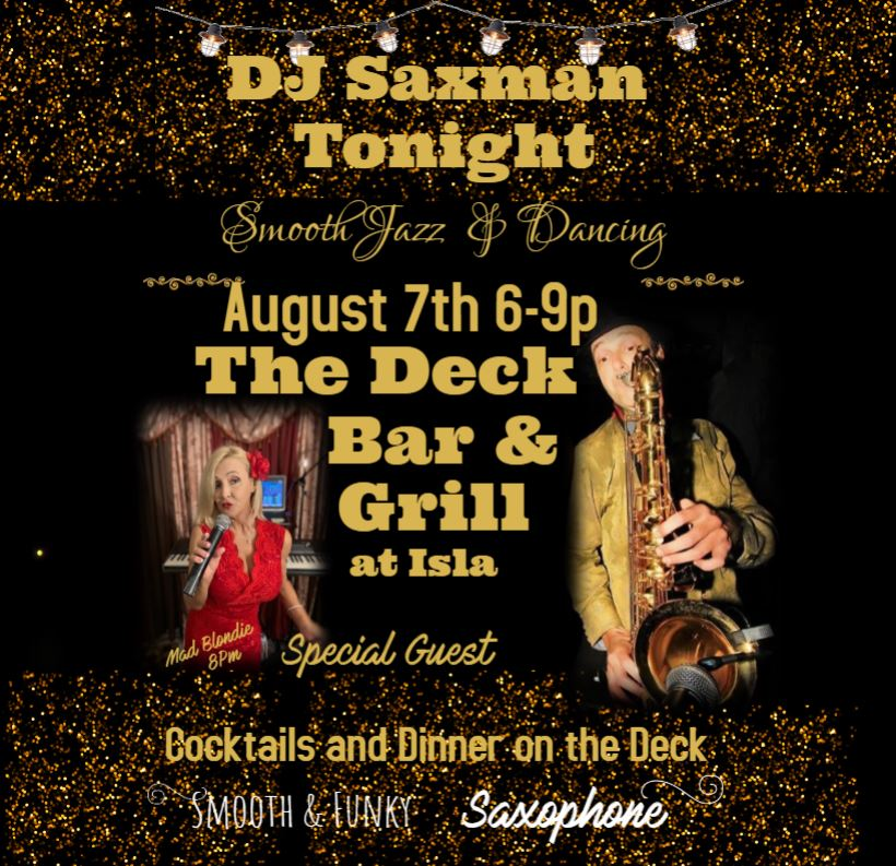 Wright Still Smooth Jazz DJ Saxman appearing at THe Deck Bar and Grill St. Petersburg